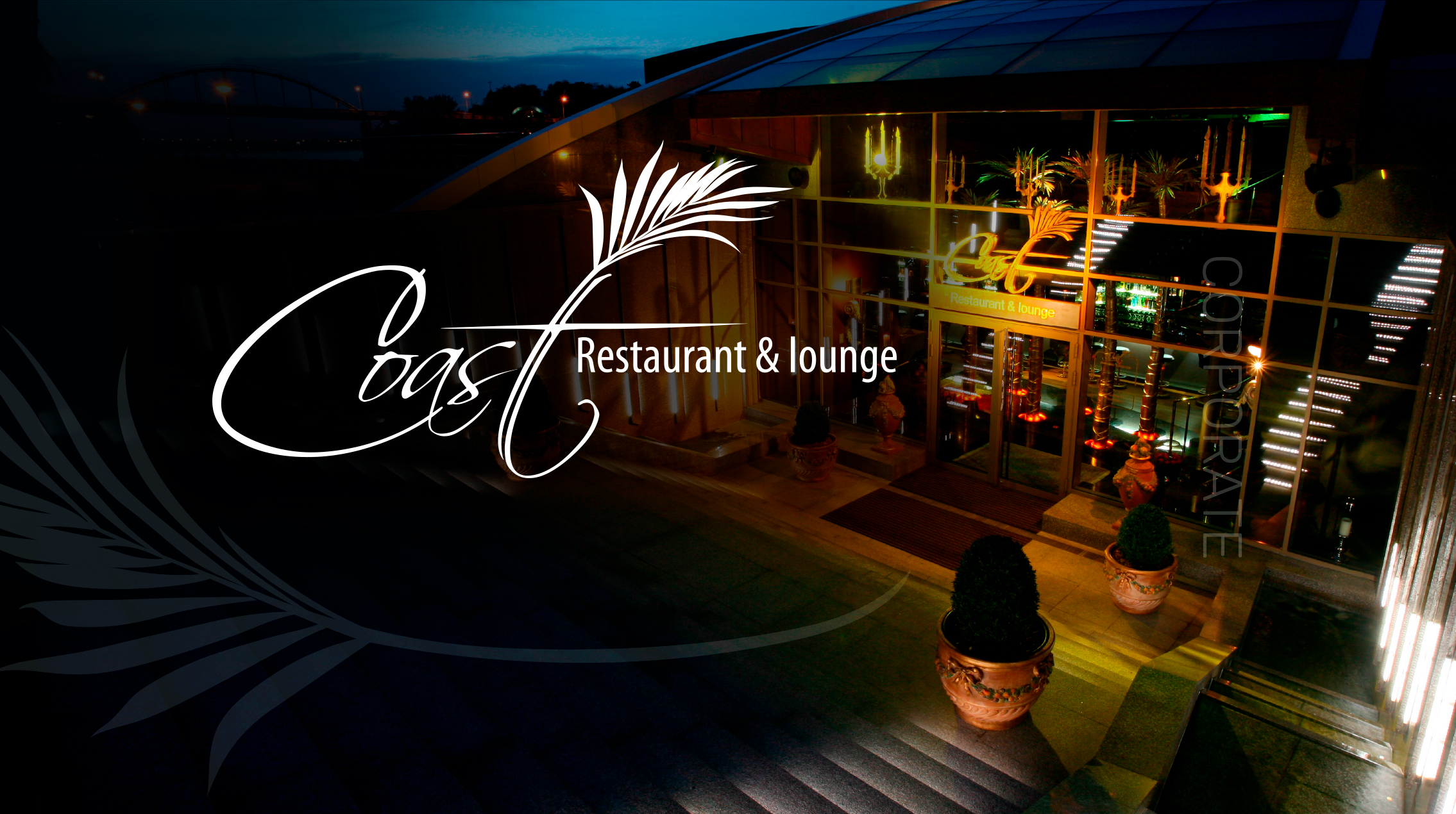 Создание корпоративного сайта для ресторана Coast