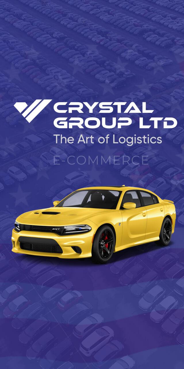 Cайт для компании Crystal Group LTD с привязкой к Copart